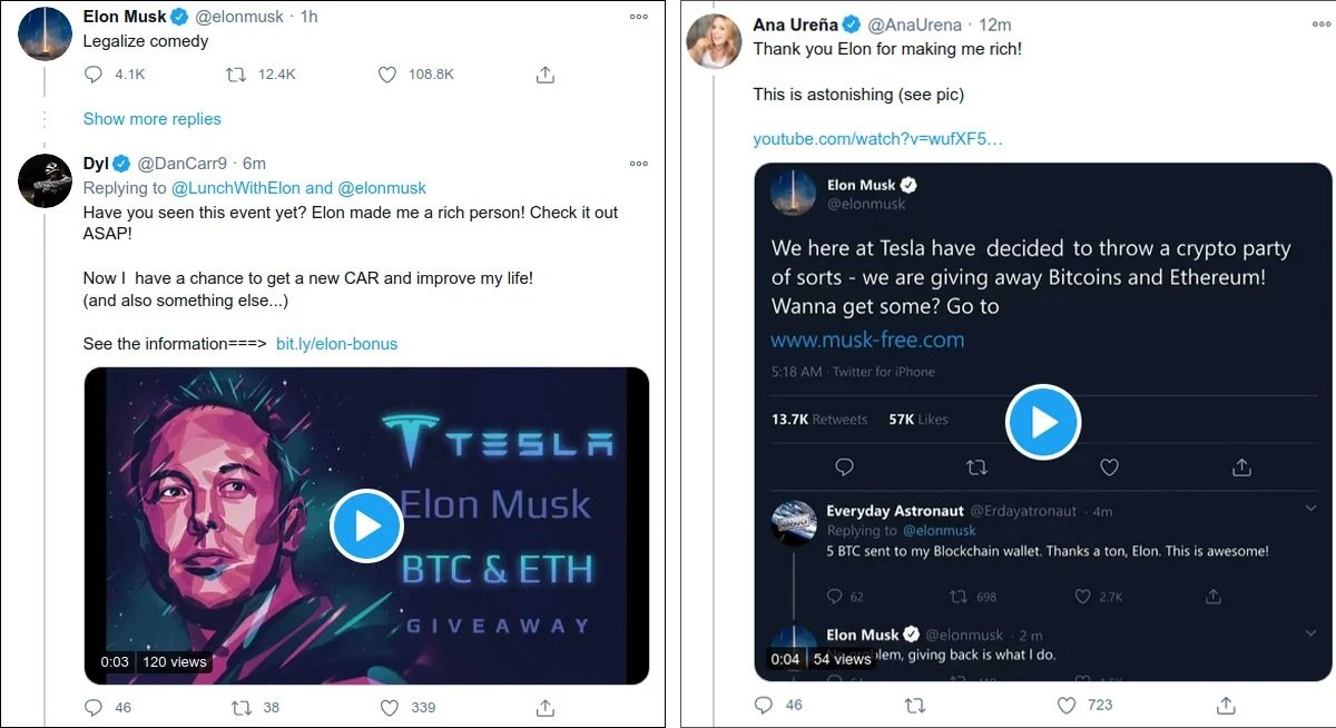 Hackers use Elon Musk's Twitter account to spread cryptocurrency fraud