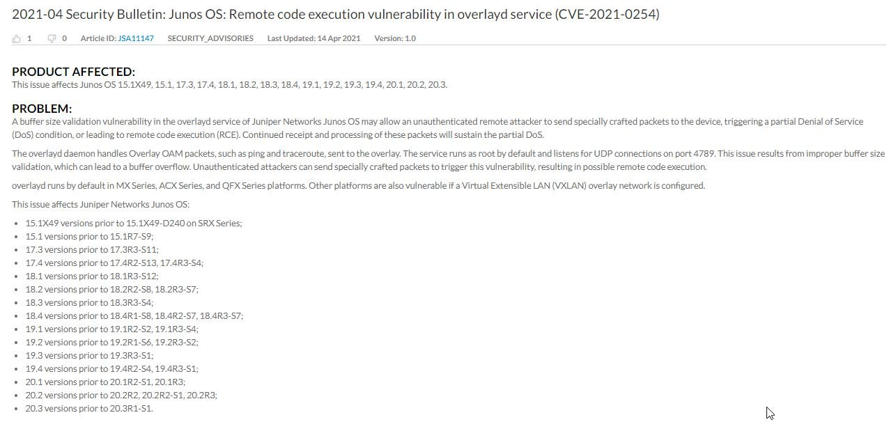 Critical vulnerabilities in Juniper Networks devices enable multiple cyberattack variants