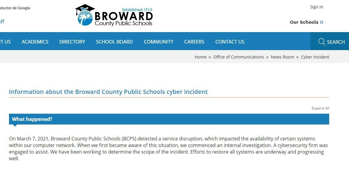 Hundreds of schools affected by ransomware infection; hackers expose students and teachers' sensitive data