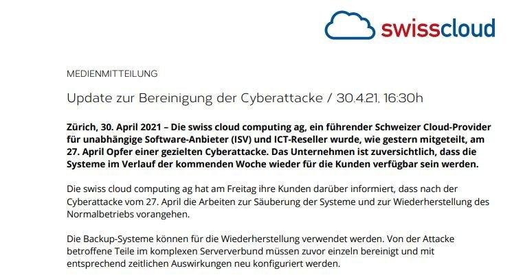Ransomware hackers attack major cloud service providing company