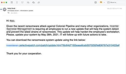 Hackers send fake attack reports to Colonial Pipeline via email to distribute Cobalt Strike malware
