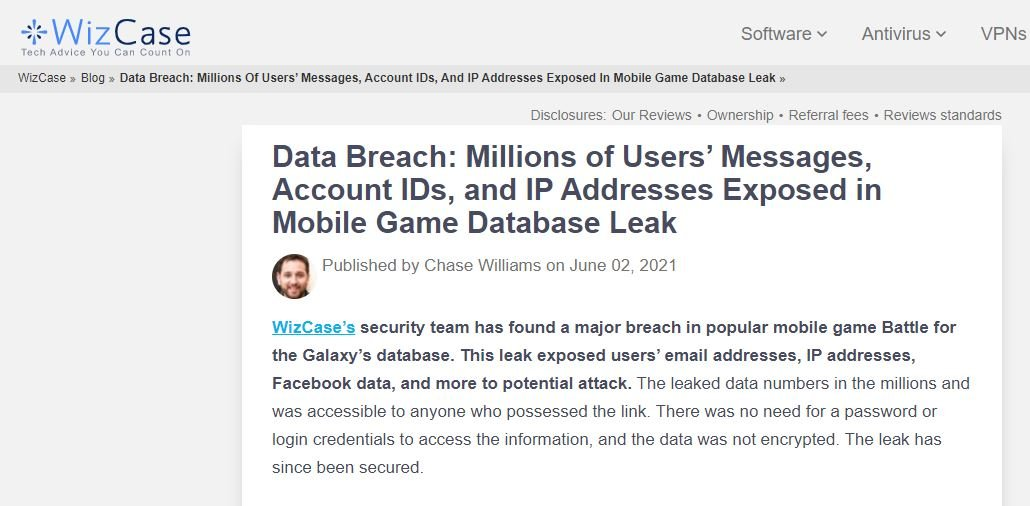 Millions of mobile game users affected by massive data breach