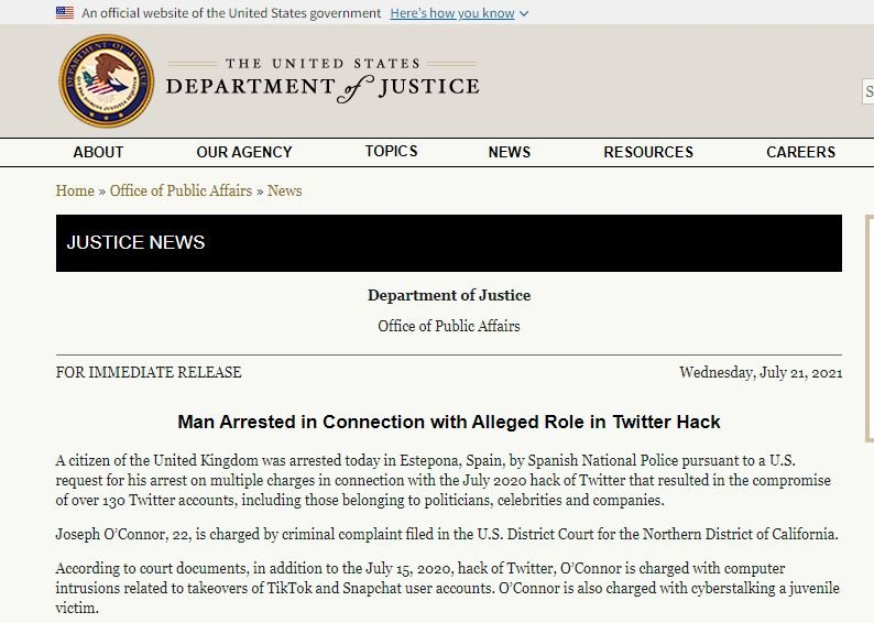 The 22-year-old who hacked Twitter network in 2020 was arrested in Spain